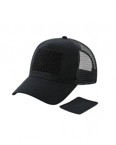 Casquette BEECHFIELD Trucker noire avec patch