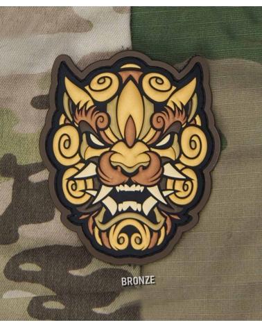 "Morale Patch PVC ""Foo Dog Head"" Bronze"