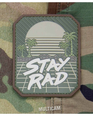 """Morale Patch PVC """"Stay Rad"""" Multicam"""