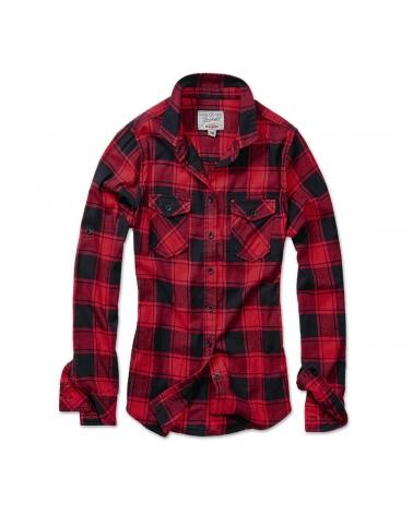 Chemise Femme à carreaux noir/rouge BRANDIT