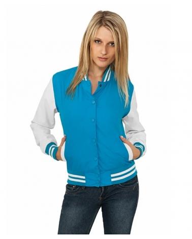 Veste Universitaire blanc et bleu Femme URBAN CLASSICS