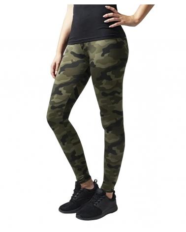 Leggings Femme URBAN CLASSICS camouflage kaki