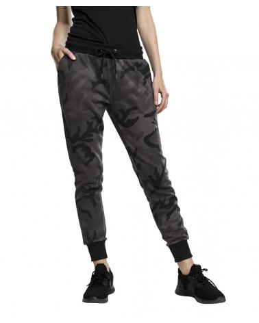 Pantalon Jogging camouflage Dark Camo Femme URBAN CLASSICS