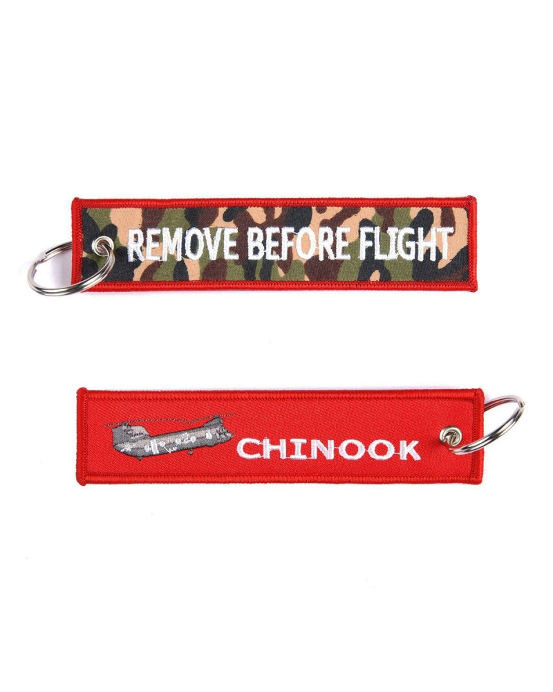 """Porte-Clés militaire FOSTEX """"RBF Chinook"""" rouge"""