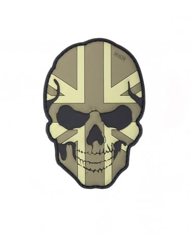 "Morale Patch PVC ""Skull UK"" gris"