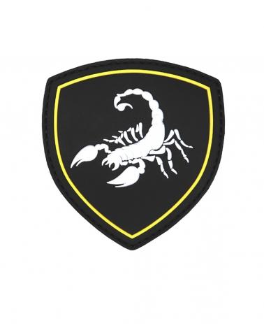 """Morale Patch PVC """"Scorpio"""" noir"""