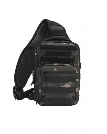 sac à dos militaire mono bretelle camouflage noir
