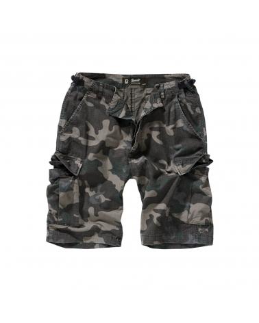Short homme militaire BRANDIT camouflage noir