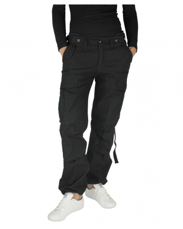 Pantalon Treillis Femme Militaire M-65 BRANDIT noir