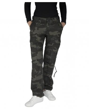 Pantalon Treillis Femme Militaire M-65 BRANDIT Black camo