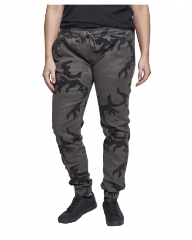 Pantalon Jogging Militaire Black Camo Femme URBAN CLASSICS