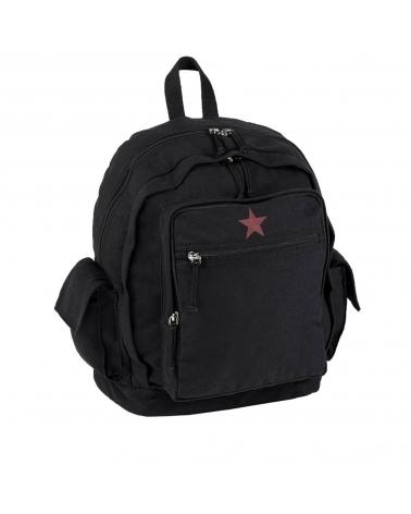 sac à dos toile étoile rouge MIL-TEC Red Star noir