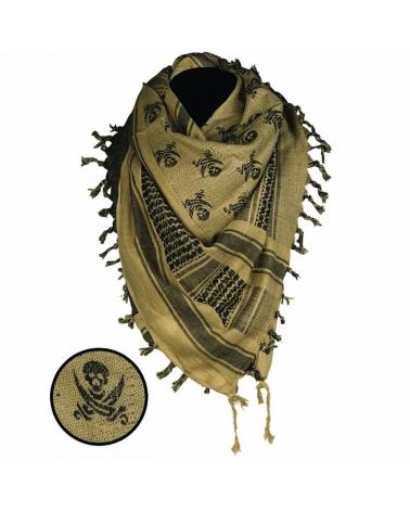 Shemagh MIL-TEC Skull noir/coyote