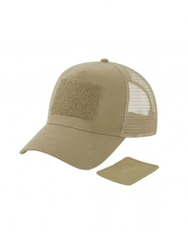 Casquette BEECHFIELD Trucker beige avec patch