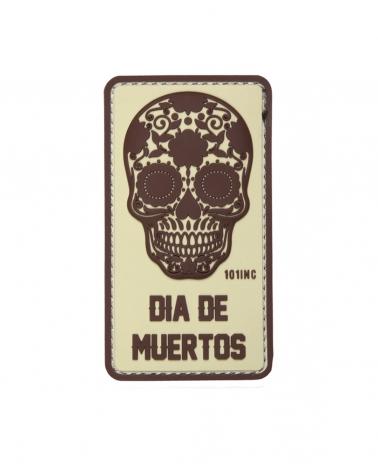 """Morale Patch PVC """"Dia de Muertos"""" beige"""