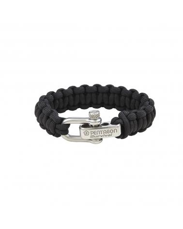 Bracelet PENTAGON Survival noir