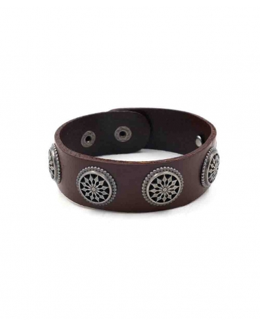 Bracelet Mandala marron