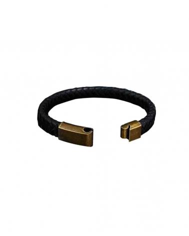Bracelet Vintage Tressé noir