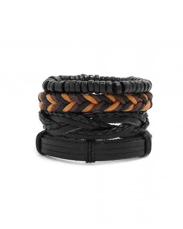 Set noir 4 Bracelets