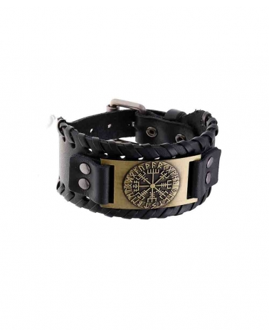 Bracelet Celte noir/or