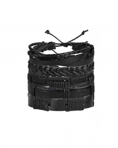 Set noir 5 Bracelets