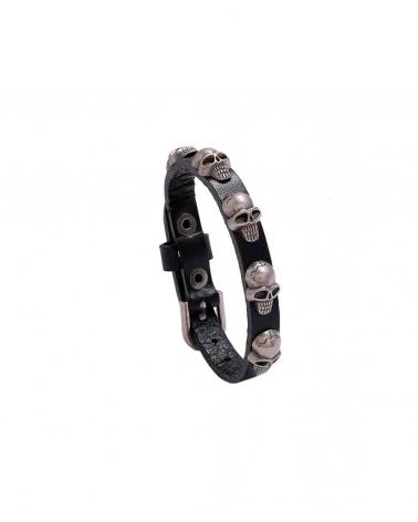 Bracelet Tribal Skull noir