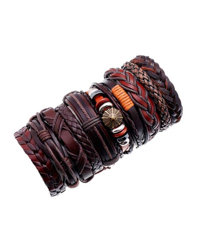 Set marron 10 Bracelets