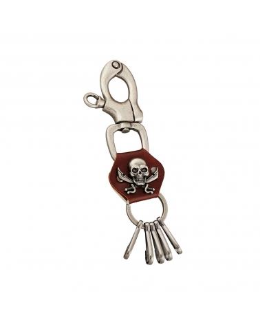 "Porte-Clés ""Pirate Skull"" marron"