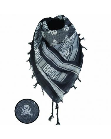 Shemagh MIL-TEC Skull noir/blanc