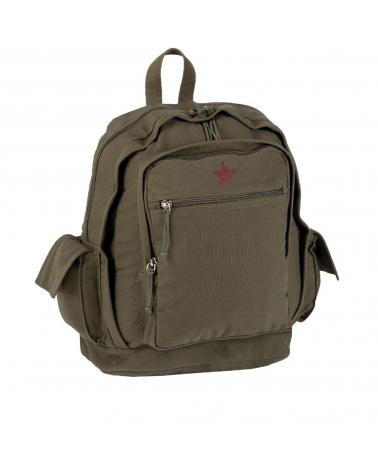 sac à dos toile étoile rouge MIL-TEC Red Star kaki