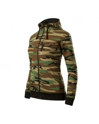 Sweatshirt Hoody Femme MALFINI zippé camouflage
